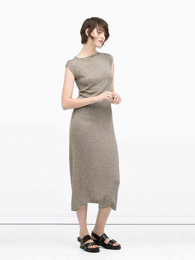 Zara Long Seamed Dress