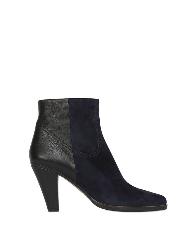 Chloé Calf Leather & Suede Ankle Boots