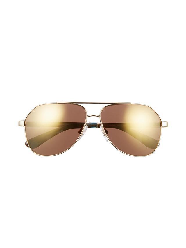 Dolce & Gabbana Mirror Dolce Metal Aviator Sunglasses