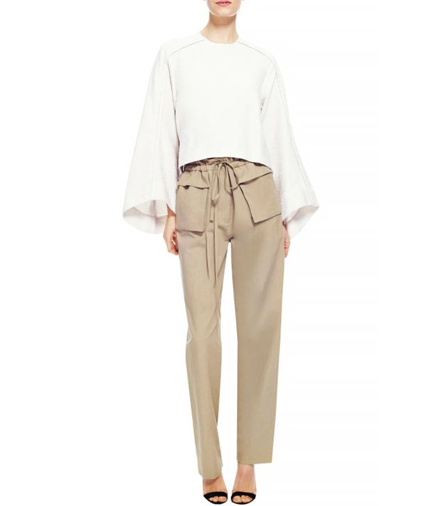Rosie Assoulin Cotton and Linen Blend Drawstring Cargo Pants