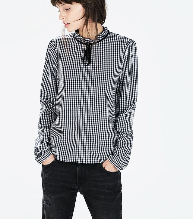 Zara Gingham Blouse