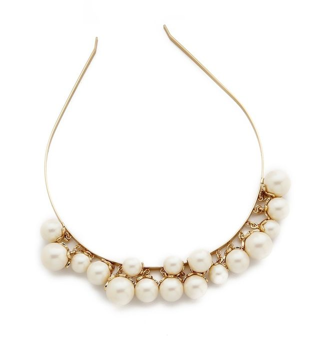 Kate Spade New York Petaled Imitation Pearls Headband
