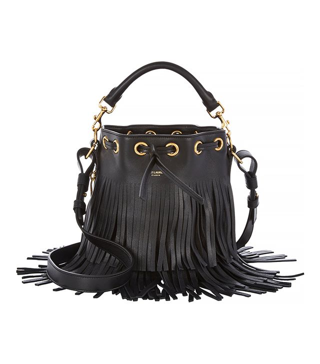 Saint Laurent Fringed Bucket Bag