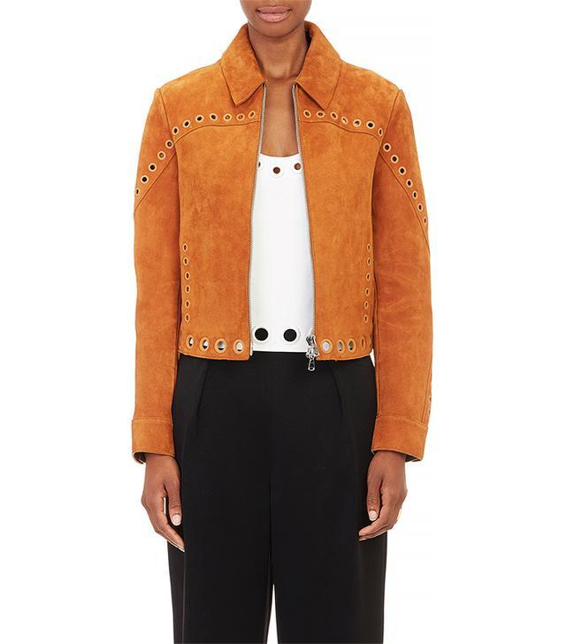 3.1 Phillip Lim Grommet-Trim Suede Jacket