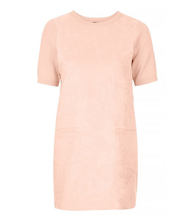 Topshop Suede Front Shift Dress