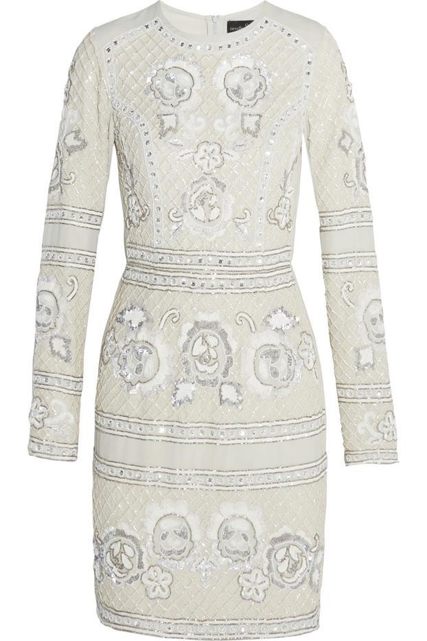 Needle & Thread Embellished Georgette Mini Dress