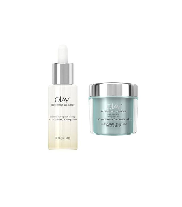 Olay Regenerist Luminous Overnight Mask and Regenerist Luminous Facial Oil