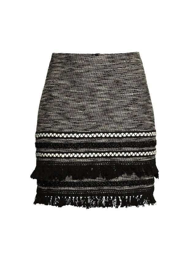 H&M Skirt With Fringe