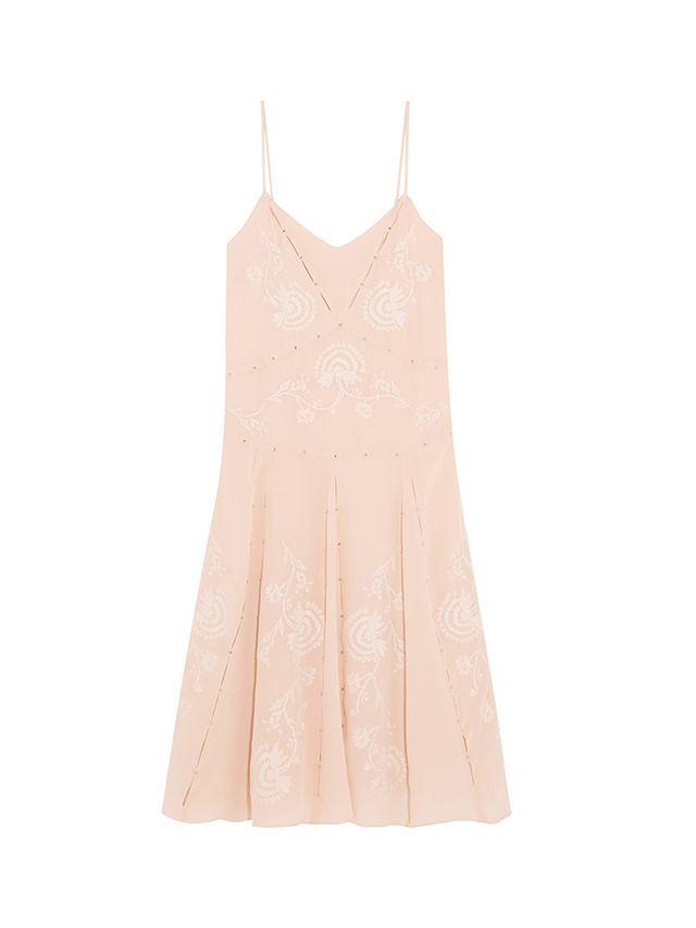 Paul & Joe Angeac Embroidered Silk-Crepe Dress