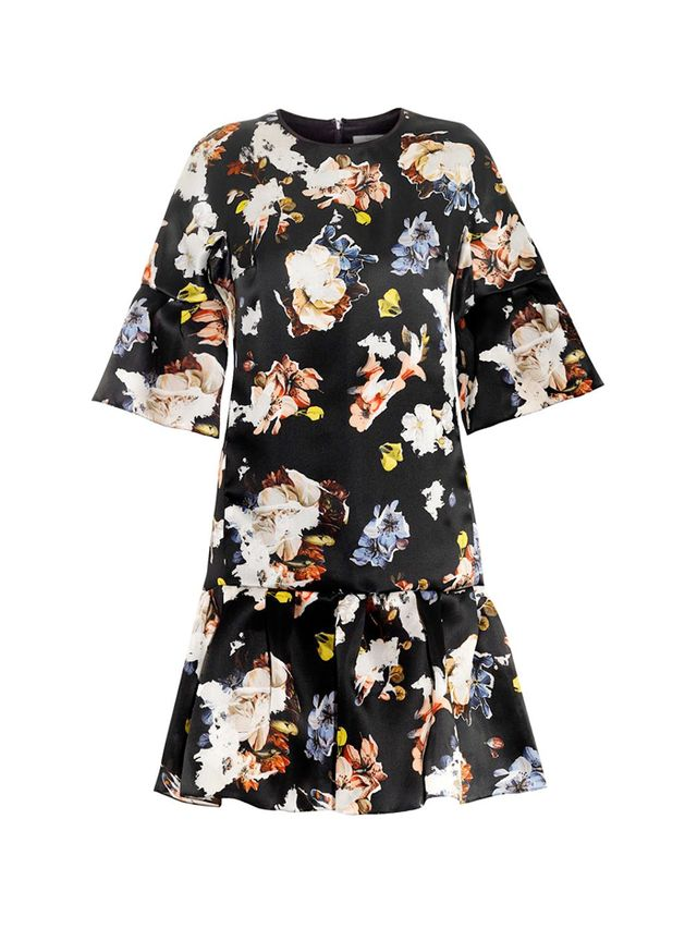Erdem Logan Floral-Print Silk-Organza Dress