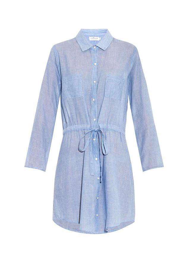 Velvet By Graham & Spencer Monet Chambray Shirt Dress