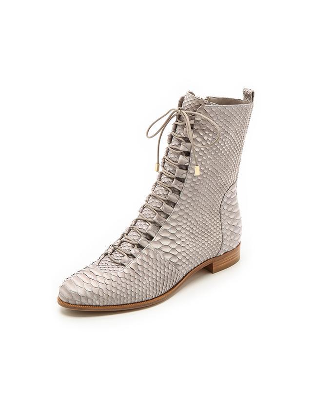 Alexandre Birman Python Flat Boots