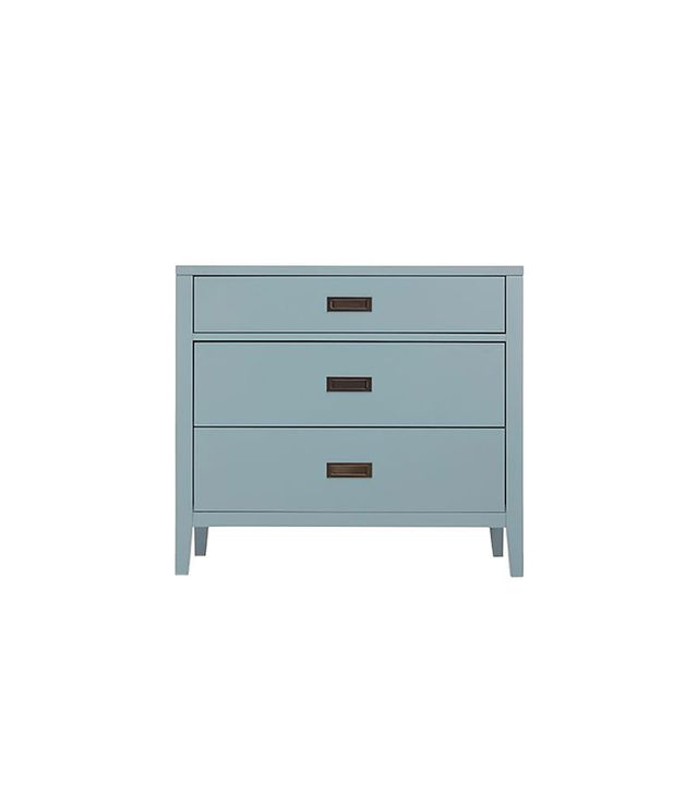 Crate & Barrel Arch Blue Three-Drawer Chest