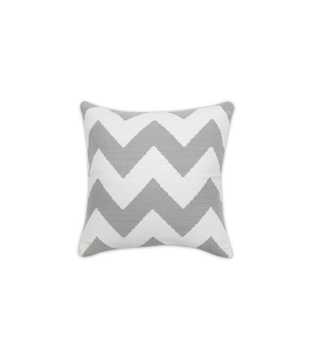 Jonathan Adler Grey And Natural Zig Zag Pop Throw Pillow