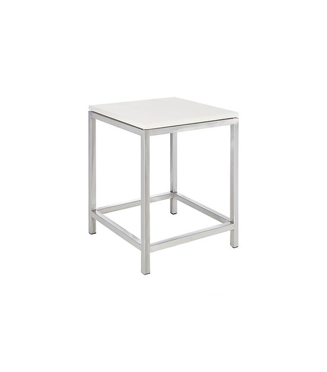 Crate & Barrel Era Limestone Side Table