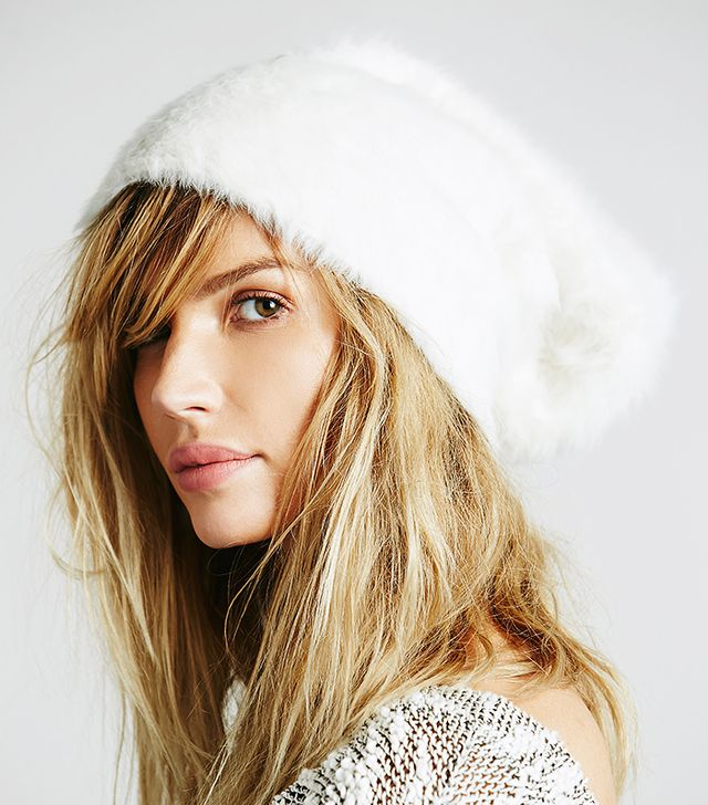 Free People Grizzly Brushed Beanie