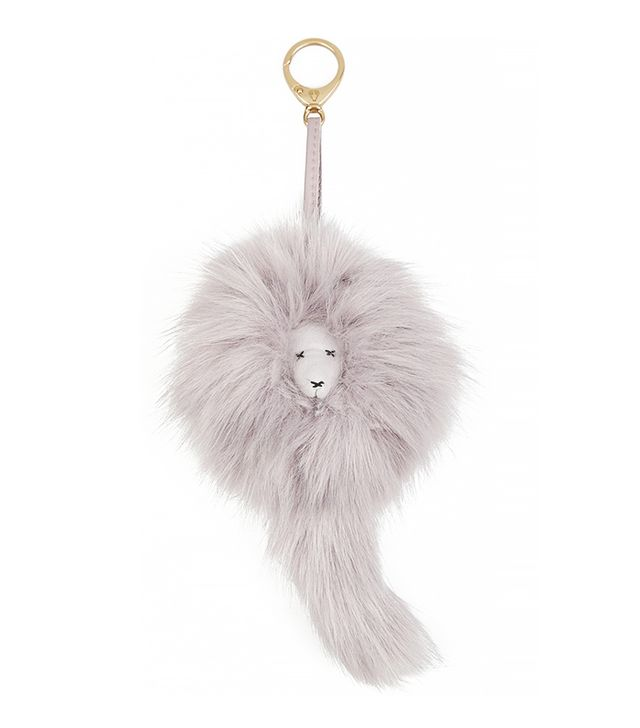Shrimps Lenny Faux-Fur and Leather Keychain