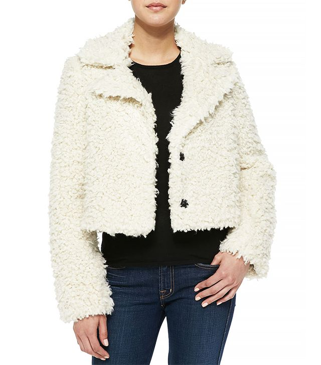 Smythe Faux-Fur Cropped Jacket