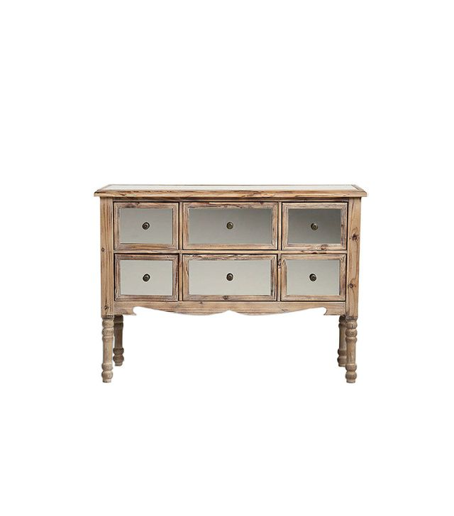 Urban Outfitters 6-Drawer Mirrored Dresser