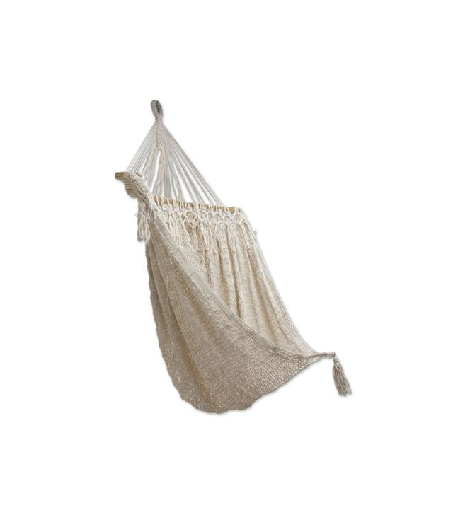 Novica Handcrafted Cotton Sandy Beach Hammock Swing