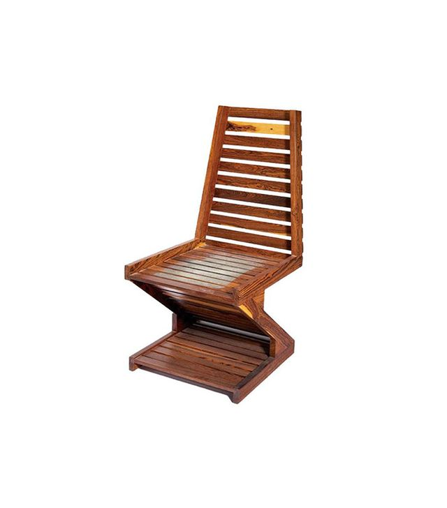 Don Shoemaker Rare Zig Zag Cocobolo Wood Chair