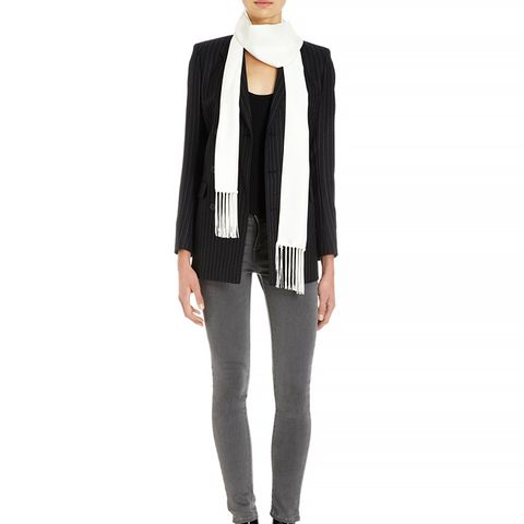 Classic Fringed Tux Scarf