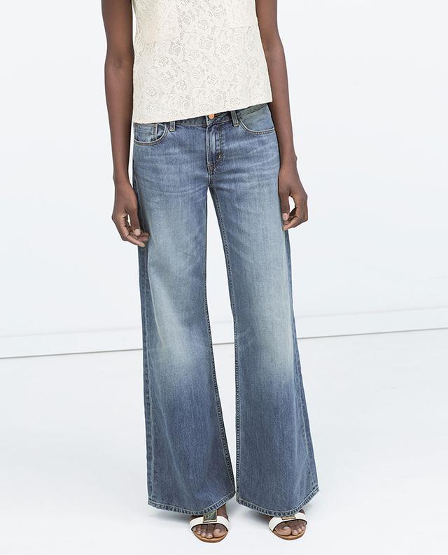 Zara Wide-Leg Denim Jeans