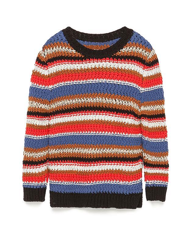 Zara Multicolored Striped Sweater