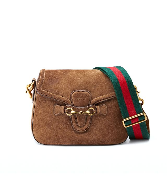 Gucci Lady Web Suede Shoulder Bag