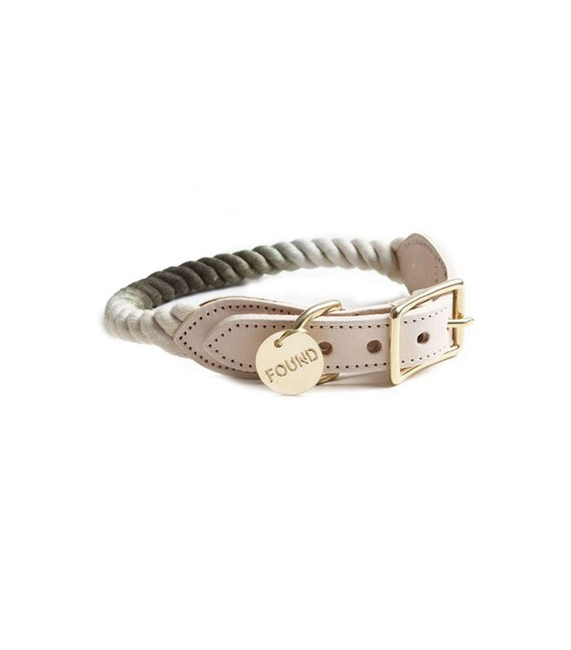 Found My Animal Olive Ombre Rope Dog Collar
