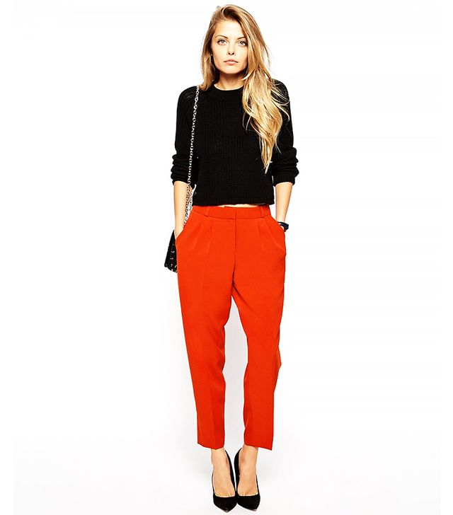 ASOS ASOS Peg Trouser with Front Pleats