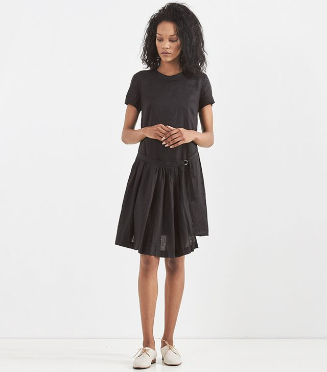 Band of Outsiders Pleated Wrap T Shirt Dress