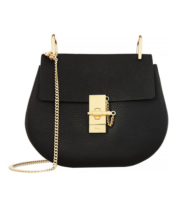 Chloé Drew Medium Textured-Leather Shoulder Bag