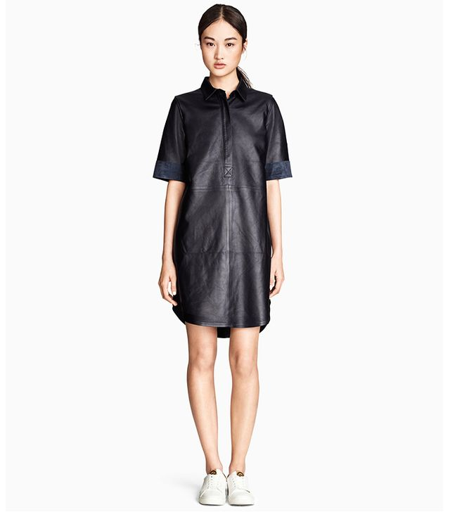H&M Leather Shirt Dress
