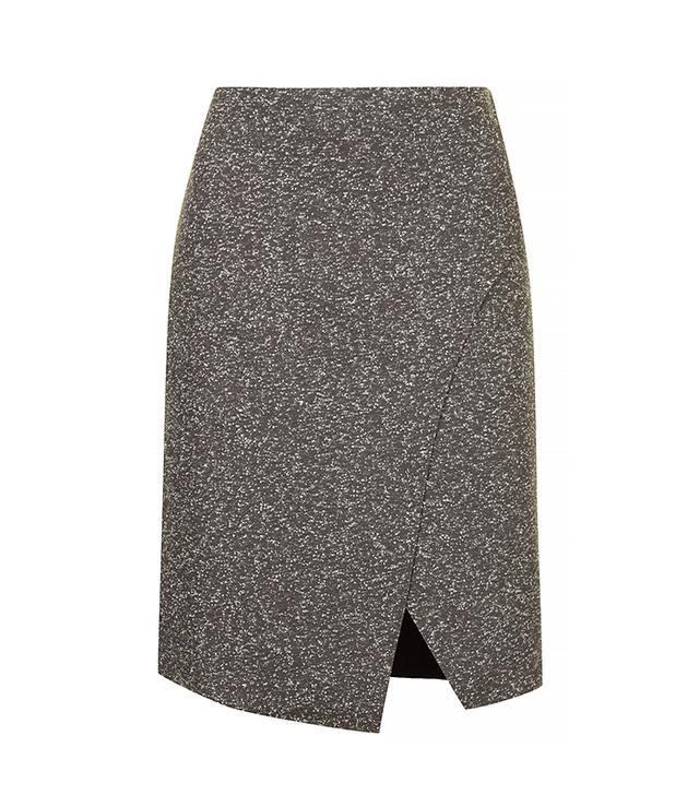 Topshop Bonded Neppy Wrap Skirt