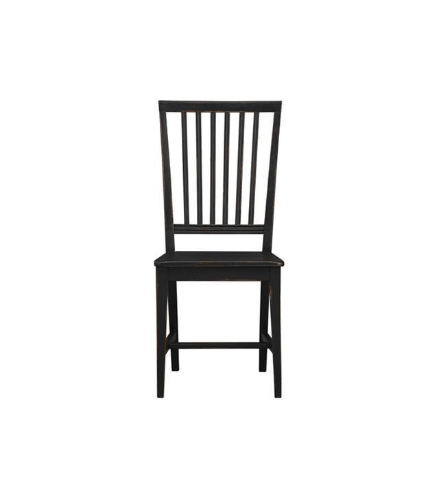 Crate & Barrel Village Black Side Chair