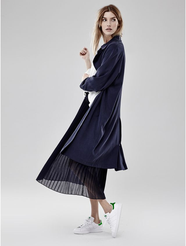 2nd Day Open-Front Trench Coat