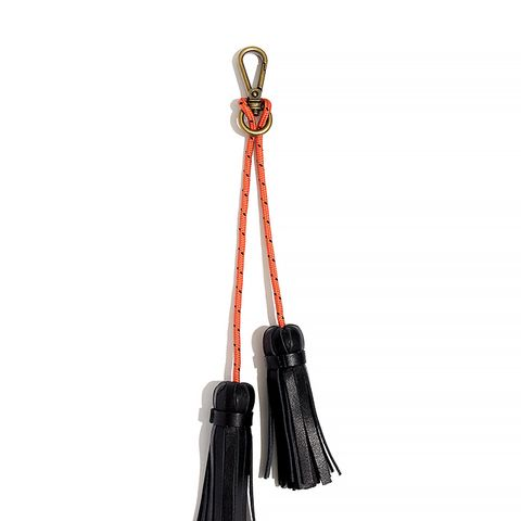 Leather Tassel Rope Keychain