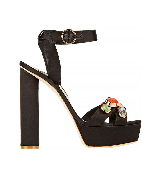 Sophia Webster Amanda Embellished Satin Sandals