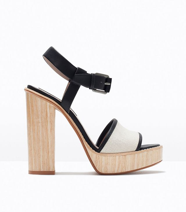 Zara High Heel Platform Sandal
