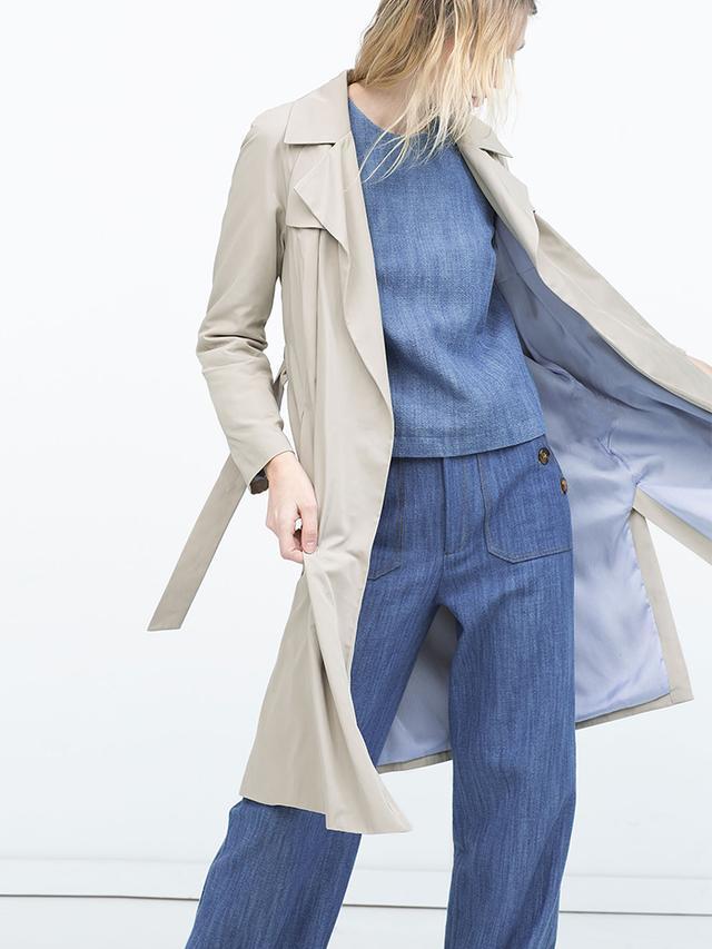 Zara Draped Trench Coat