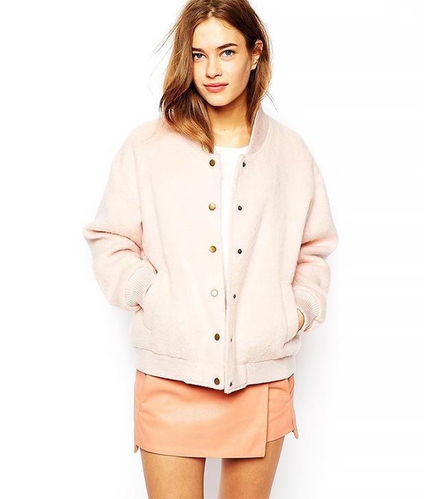 Ganni Varsity Bomer Jacket