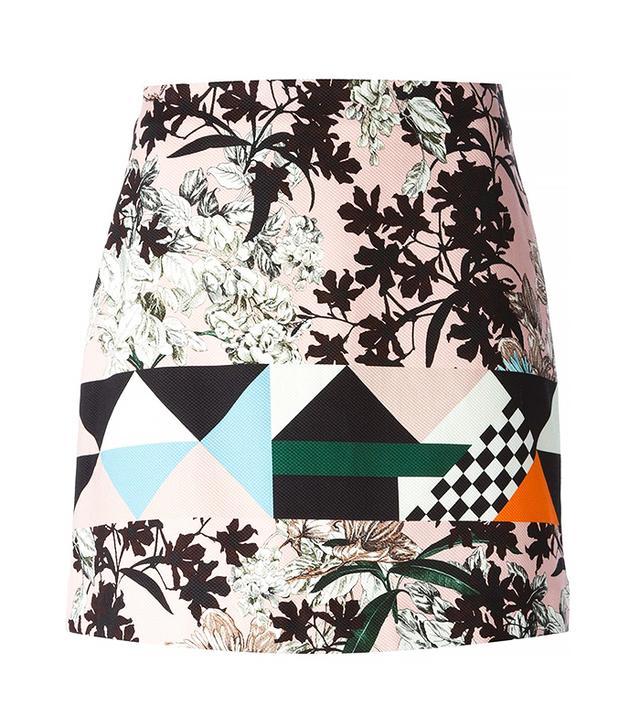 MSGM Pattern Mix Skirt