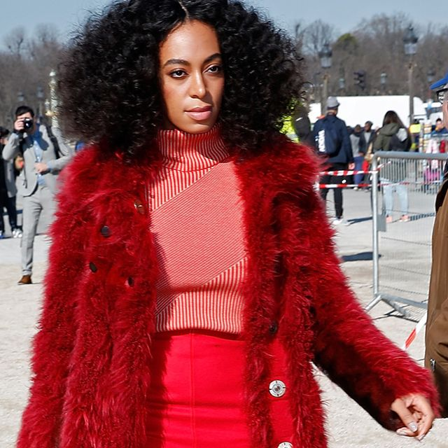 Solange's Front-Row Look at Carven F/W 15 Is Literally Perfect