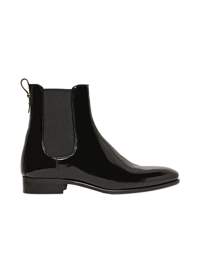 Salvatore Ferragamo 20mm Nagoya Patent Leather Ankle Boots