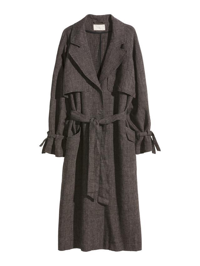 H&M Linen Trench Coat