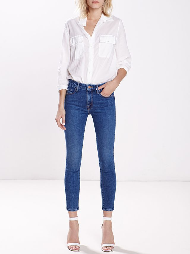 MOTHER High-Waisted Looker Crop Jeans