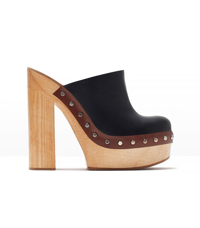 Zara Leather Clogs