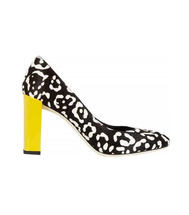 Fendi Leopard-Print Calf-Hair Pumps