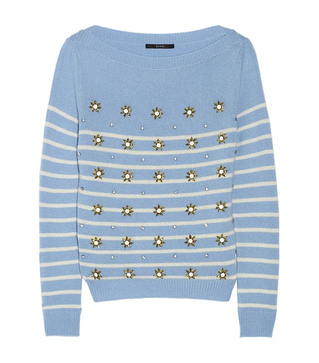 Gucci Embellished Striped Cashmere Sweater
